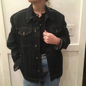 Navy denim jacket